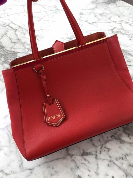 Bolsa 2jours Fendi Vermelha (comprada Na Itália) Com Nota