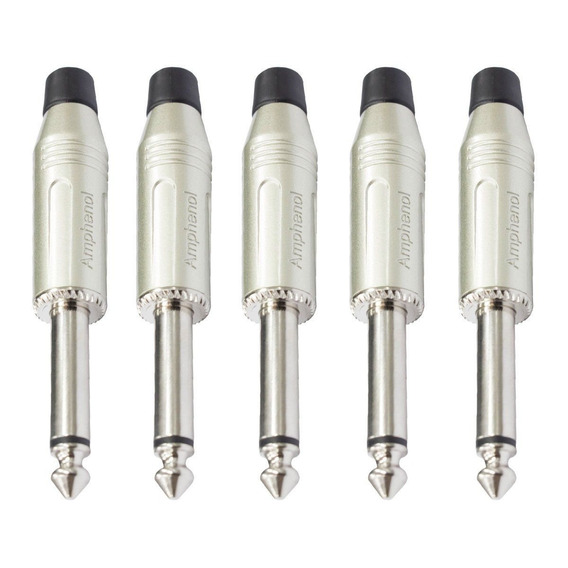 Conector P10 M Mono Linha Kit C/ 5 Unidades Acpmgn Amphenol