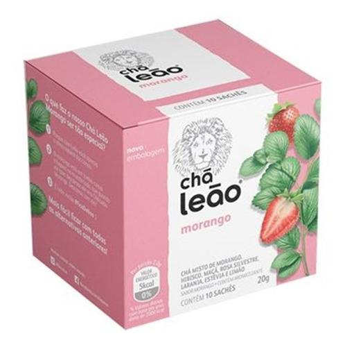 Imagem 1 de 1 de Chá Leão Premium - Morango 10 Sachês