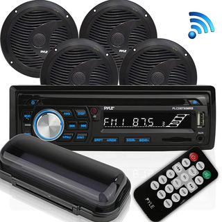 Equipo Estéreo De Audio Marino Pyle Bluetooth [receptor De R