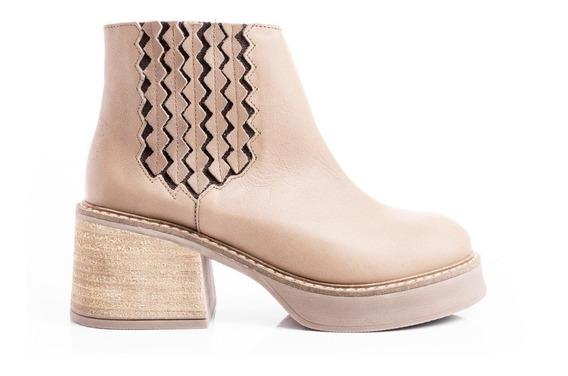 Zapatos Borcegos Botas Mujer Botitas Plataformas Cuero