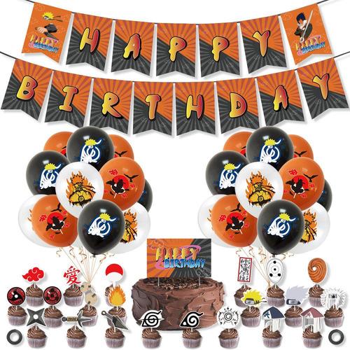 Naruto - Kit Decorativo Para Fiesta De Cumpleaños