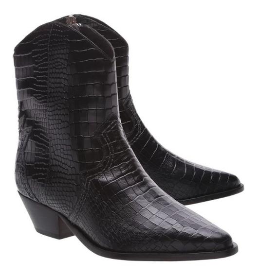 Bota Schutz Deluxe Croco Black