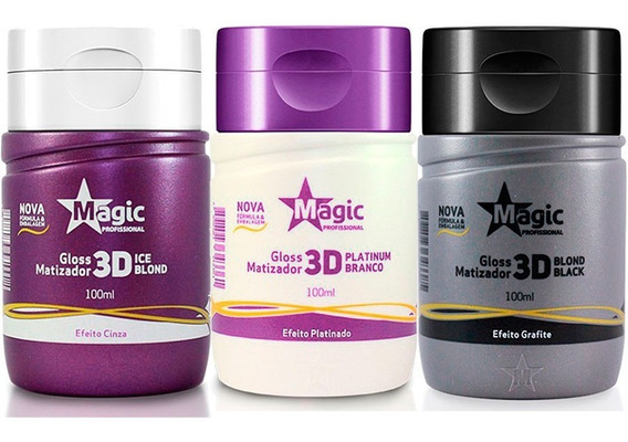 Kit 3 Magic Color 100ml Ice Blond + Platinum + Blond Black