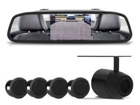 Kit Retrovisor Lcd Com Camera + Sensor De Estacionamento Ré