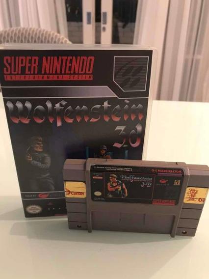 Wolfenstein 3d - Super Nintendo - Original + Universal Case