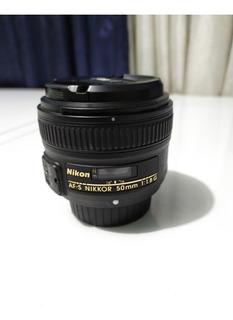 Lente Nikon 50mm 1.8g Muy Buen Estado.