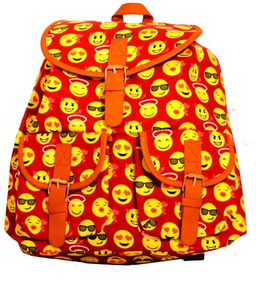 Mochila Facul Escolar Emoji Emoticon Promoção Todas As Cores