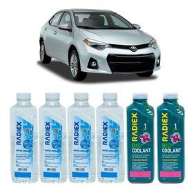 6 Litros Aditivo Radiador Bio Coolant Radiex Toyota Corolla