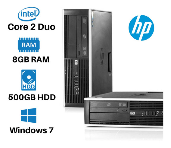 Pc Hp Sff Core 2 Duo 8gb 500gb Win7 Promoção Só Hoje