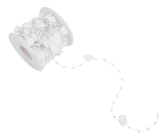 oro o plata Gold Walfront 25 m//rollo Galvanoplastia Perlas de alambre de perla Guirnalda Cuerda Diy Decoraci/ón de la boda di/ámetro 6 mm