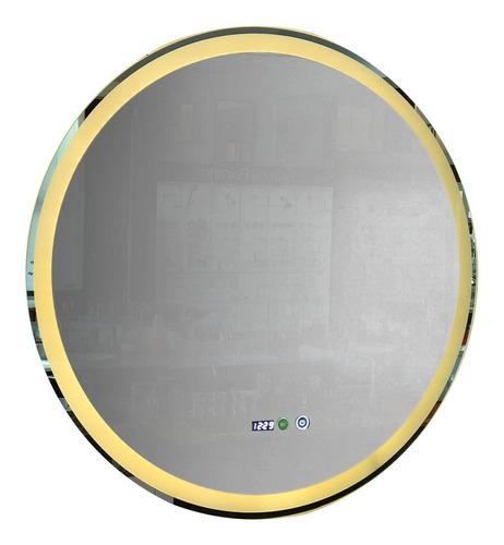 Espejo Baño Luz Led Bluetooth Redondo Desempañador 80 Cm