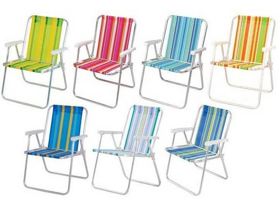 Cadeira De Praia E Piscina Alta Alumínio Mor Ref 2101 Escolha A Cor