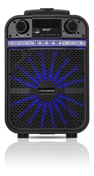 Caixa Multiuso Portatil Bluetooth Usb Fm 80w Go Power 100