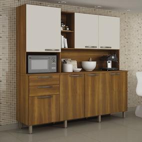 Armario De Cozinha C/ Porta Microondas E 7 Portas Diamante