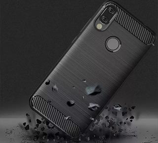 Funda Simil Carbono Samsung M20 + Vidrio Templado