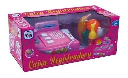 Caixa Registradora Infantil - Cartao Moedas Maquina Dinheiro