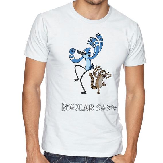 Camiseta Luxo Apenas Show Modercai Rigby Dança Regular Show