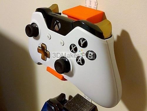 2 Soportes De Pared Para Joystick Xbox One Wii U Pro 360 Super Reforzados Con Tornillos Y Tarugos - Excelente Calidad 3d