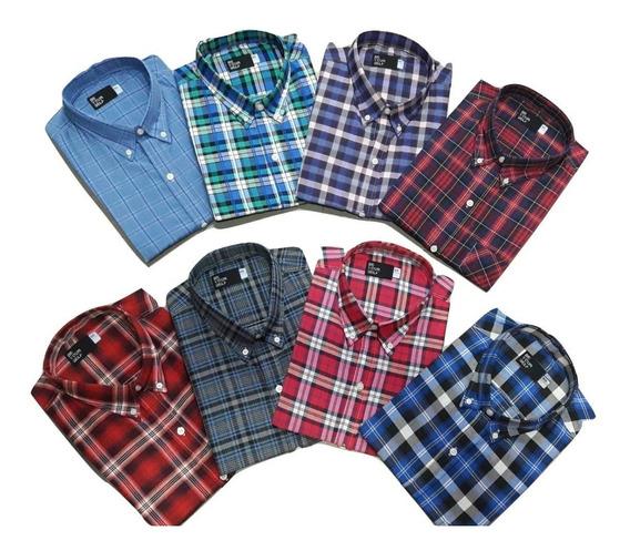 4 Camisas Hombre Talle Especial Manga Larga 46-48-50-52
