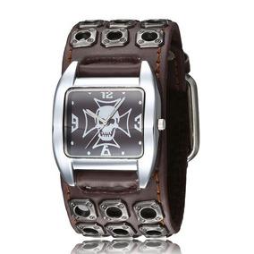 Relógio Bracelete Masculino Feminino Pulseira Larga Em Couro