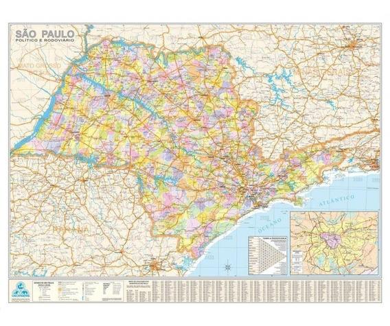 Mapa Politico Do Estado De São Paulo-multimapas
