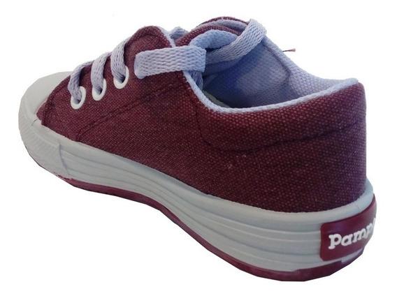 Zapatillas Lona Infantil Marca Pampero Modelo Fran