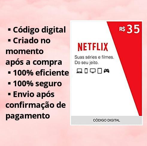 Netflix - Cartão Pré Pago 35 Reais
