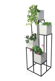 Portamacetas Macetero En Hierro Desnivel - Jardin Vertical - Somos Fabricantes
