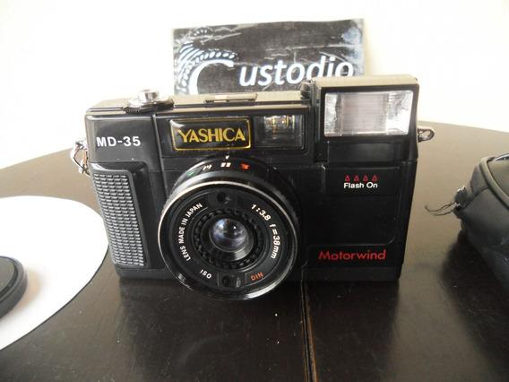 Antiga Câmera Fotográfica Yashica Md-35 Motorwind (funciona