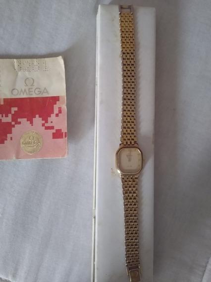 Relógio Omega De Vile Plaquê Em Ouro .