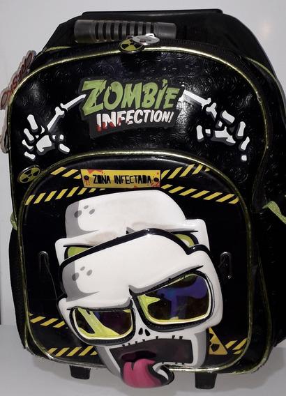 Mochila Zombie Infectiction Mascara Con Carro C/detalles Uso