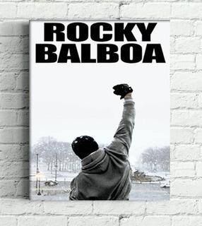 Quadro Rocky Balboa Impressão Em Canvas 30x40cm