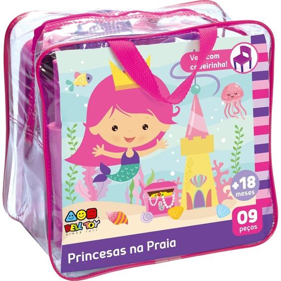 Frasqueira Para Praia Bell Toys Princesas Na Praia - 1 Cadei