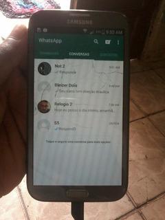 Samsung Galaxy Note 2 Com A Tela Trincada Mais Funcionando