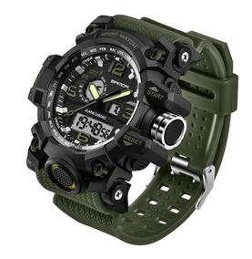 Relógio Masculino Led Digital Esportivo Verde Musgo Exército