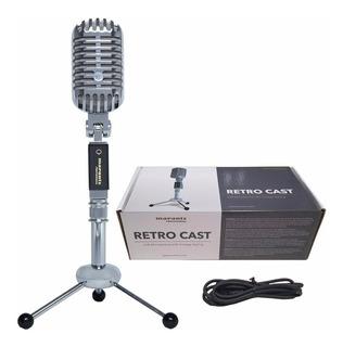 Micrófono Marantz Retro Cast Cardioide Usb Podcast