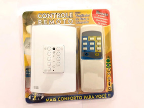 Controle Remoto Ventilador De Teto Universal Com Placa 4x2