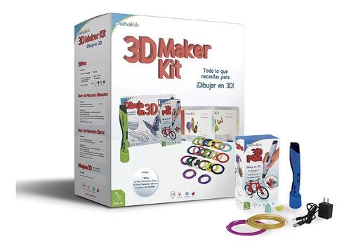 Imagen 1 de 5 de Creativakids - 3d Maker Kit Azul - Kit De Dibujo