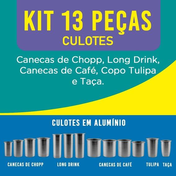 Kit 13 Peças / Culote Copo Caneca Taça Acrílica Transfer