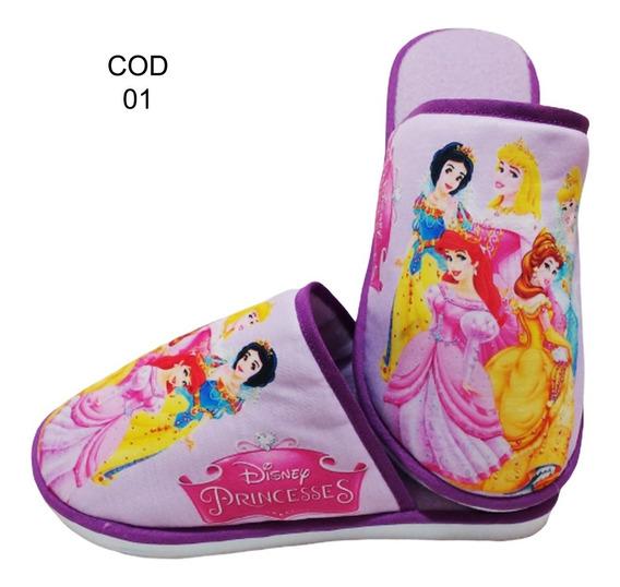 Pantufa Infantil Princesas - Personalizada