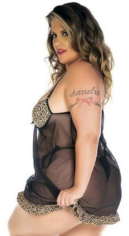 Camisola Sexy Gostosa Plus Size - O Charme É Todo Seu!!!