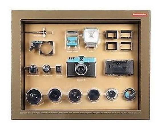 Câmera Diana Lomography Lomo Diana F+ Deluxe Kit