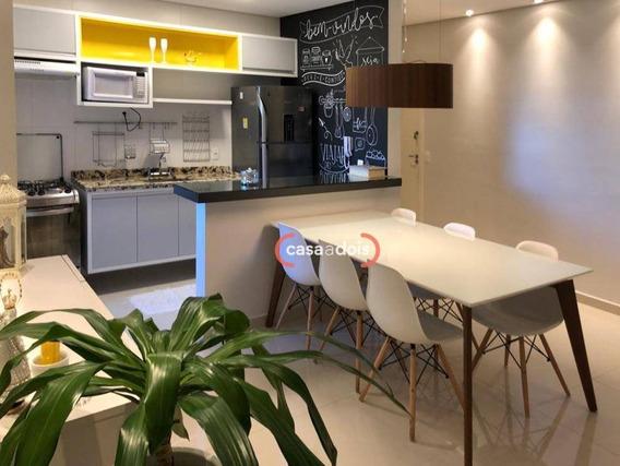 Apartamento Com 3 Dormitórios À Venda, 85 M² Por R$ 520.000,00 - Parque Campolim - Sorocaba/sp - Ap0573