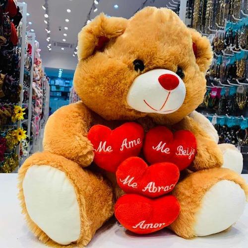 Urso De Pelúcia Grande Me Ame Me Beije Me Abrace 7107 Fizzy