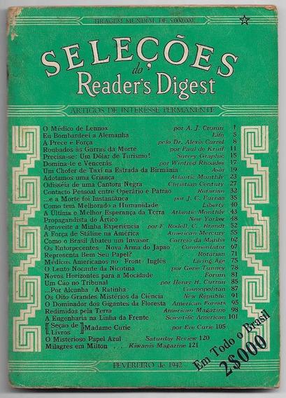 Revista Seleções Nº 1 De Fevereiro De 1942