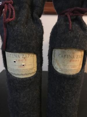 Dos Botellas De Vino Estiba Reserva 2002 Cantera Zapata