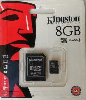 Cartão De Memória 8gb Kingston Original + Adaptador Sd