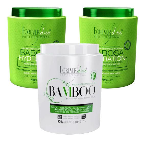 Kit Hidratante Forever Liss Mascara Bamboo 2 Mascara Babosa