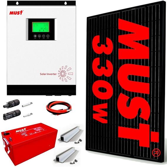 Kit Solar Paneles Generación Dia 3400 W 2kw Batería 100a M7